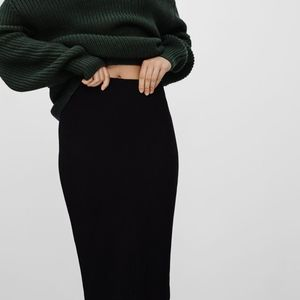 Aritzia Wilfred Pencil Black XS Skirt